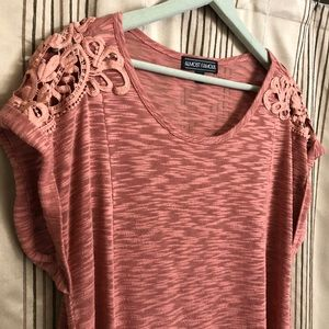 Almost Famous Tops - 🎉3 for $15🎉 Top with Lace Insets